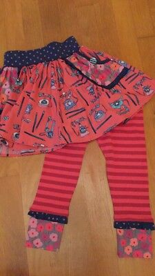 NWOT Matilda Jane Hold The Phone Skirt Girls Size 4 and matching leggings NEW