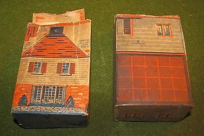2 Vintage small 1946 Wheaties Cereal Whole Box House Cut-Outs Good Shape Train