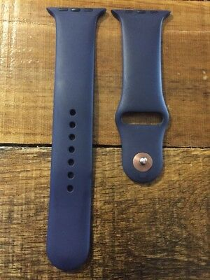 Apple Watch Sport Band 42mm Navy Rubber OEM Authentic Genuine Real Original M/L