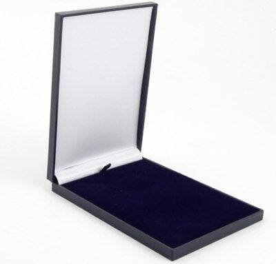 Slim Leatherette Jewellery Gift Presentation Box Satin Lined For Necklace