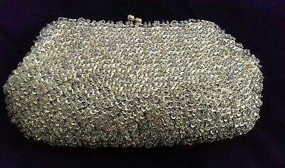 Monsoon silver sequin evening bag, brand new with tags and in original packaging