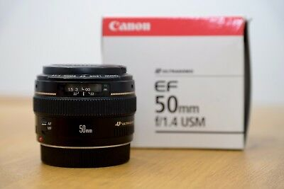 Canon EF 50 mm F/1.4 USM in Excellent condition!