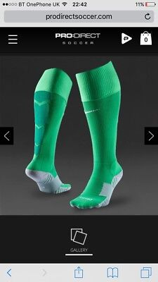 Green Nike Team Stadium II Performance Socks - Size 11 - 14.5 -  RRP £9.99