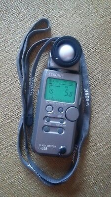 Sekonic L-358 Flash Master Light Meter and case - Excellent Used Condition