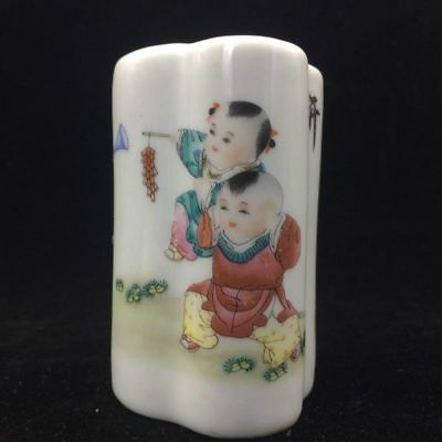 China's rich and colorful ceramic handmade painting children play pen container