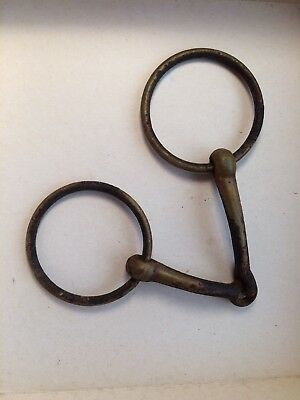 Antique/vintage Old Horse Harness Bit Bridles Cast Iron Rings Equestrian Western