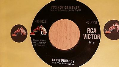 """7"""" ELVIS PRESLEY * It`s Now Or Never / A Mess Of Blues (RCA VICTOR DOG LEFT)"""