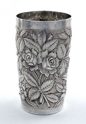 SCHOFIELD BALTIMORE ROSE Sterling Repousse TUMBLER Multiples