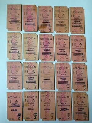 20 anciens Ticket de Train
