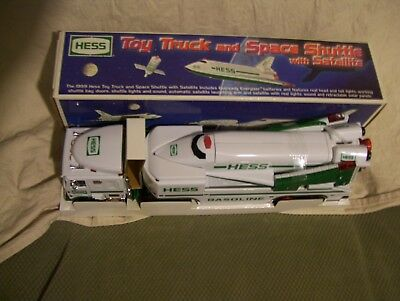Hess truck with shuttle and satelite