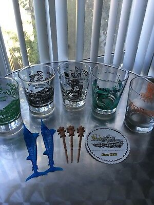 SoCal tiki mai tai glasses set lot mug Coasters Swizzles Los Angeles lowball