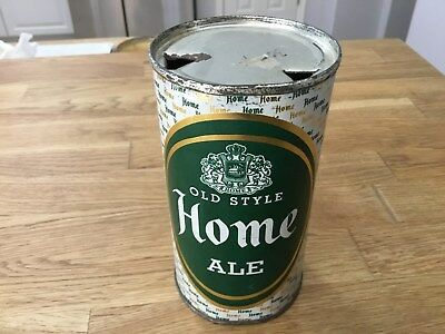 Home Old Style Ale empty flat top beer can by Drewrys, South Bend, Ind.