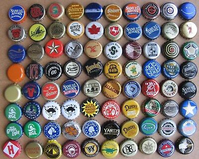 80 Different Mixed Most Obsolete Micro Craft Beer Bottle Caps Lot#3