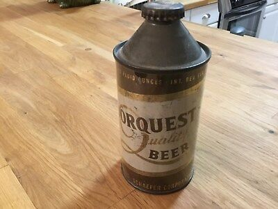 Dorquest Beer empty cone top beer can by Chas Schaefer, Brooklyn, NY
