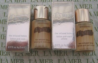 La Mer Genaissance The Infused Lotion  Boxed Just Released 5 ML x  2 NEW STOCK