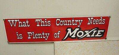 vintage moxie soda porcelain sign advertising,drink moxie beverage ande rooney