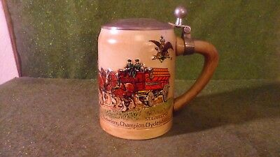 Budweiser CS19 1980 Holiday Stein St. Louis- Special Lidded Version