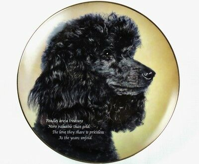 DANBURY MINT Plate LOVE THEY SHARE Black Poodle DOG Cherished Poodles