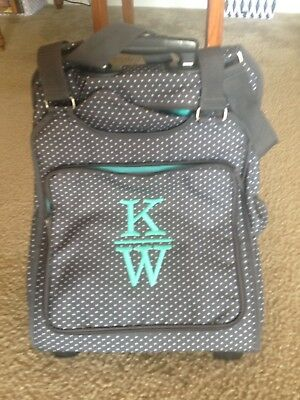 Thirty One Away We Go Roller City Charcoal Swiss Dot