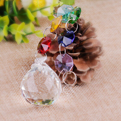 Chandelier Chakra Crystals Ball Prism Rainbow Maker Suncatcher Christmas Decor