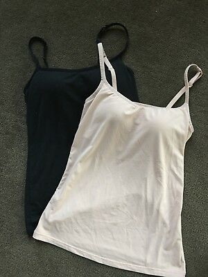 Lot GUC UNIQLO Bratop AIRism Camisole Top XS beige Black padded build in bra