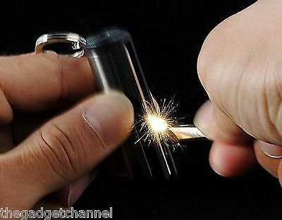 Round Permanent Match Box Lighter Unusual Mens Womens Gadget Toy Christmas Gift