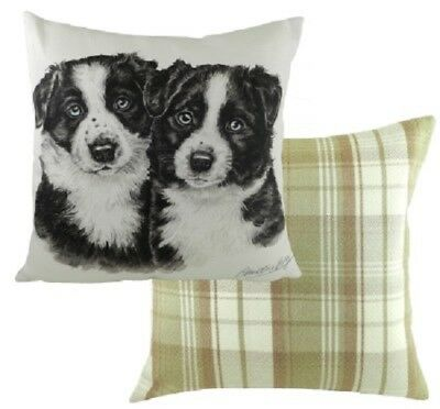 Border Collie Cushion Complete with inner By Evans Lichfield - Waggy Dogz