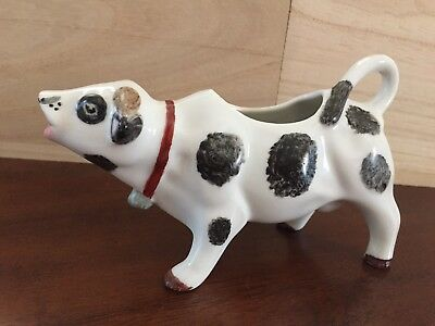 Vintage Cow Ceramic figurine Creamer Pitcher Gravy Vintage Signed by Artist