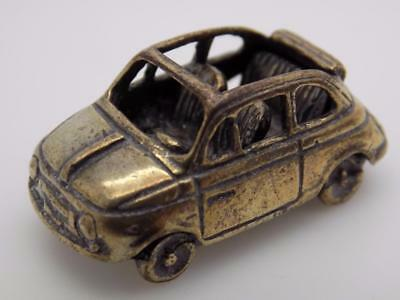 Vintage Solid Silver Italian Made Fiat 500 Miniature, Figurine, Stamped