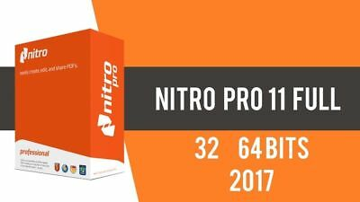 Nitro Pro 11 PDF EDITOR Creator View Converter Instant Delivery FULL ACTIVATED