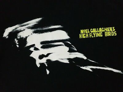 NOEL GALLAGHER HIGH FLYING BIRDS TOUR T SHIRT rock oasis uk pop Concert Tee