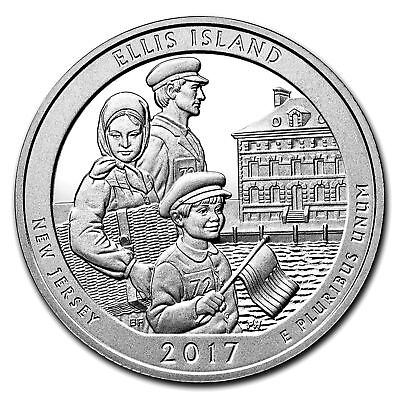2017 5oz Silver Coin America The Beautiful ATB Ellis Island National Monument NJ
