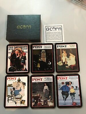 Norman Rockwell Saturday Evening Post Coaster Set