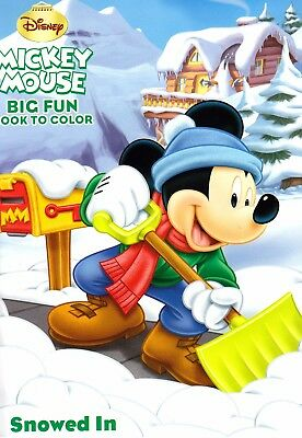 Disney Mickey Mouse Christmas Coloring Book ~ Snowed In