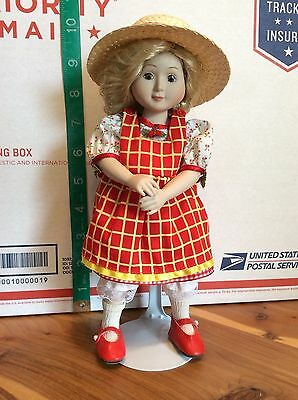 "1993 Hallmark Mary Engelbreit's Friendship Garden Tea Time Doll ""louisa"" 9 Inch"