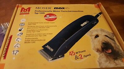 Moser max 45 professional dog clippers