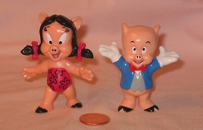 Looney Tunes Porky Pig And Petunia Pig PVC Figure