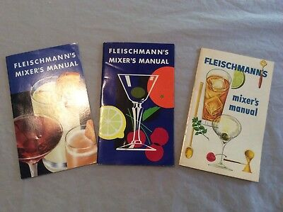 3 VINTAGE FLEISCHMANN'S MIXER'S MANUALS - Cocktail Recipies