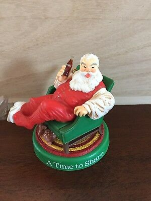 Vintage Coca Cola Santa tree ornament Christmas 1990