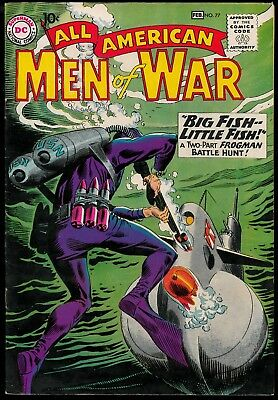 All-American Men of War F/VF #77 (1960) DC 10 cent, OO collection Frogman cover