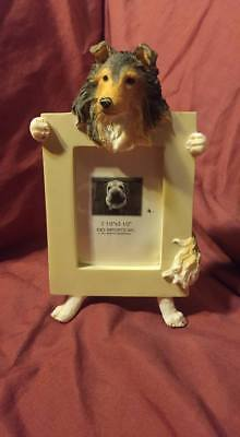 Unique Rough Collie Standing Holding Picture Frame - 100% to Rescue