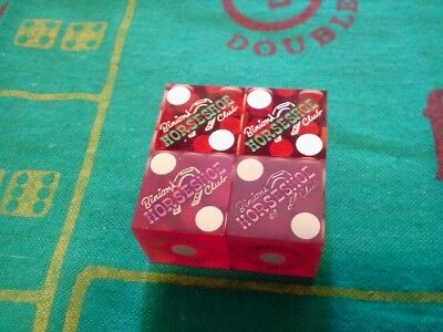 2 Pr.Old CASINO DICE *BINION'S HORSESHOE* LAS VEGAS,NV *1 TRANS.PR.WITH MATCHED#