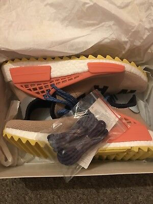 ADIDAS X PHARRELL WILLIAMS NMD HU TRAIL Pale Nude, Black & Yellow UK8/US9/EU42