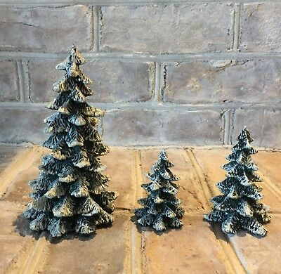 Department 56, Evergreen Trees, Set Of 3