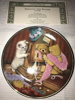 """""""Dressing For Dinner"""" Porcelain Collector Plate by Sue Willis~ Franklin Mint"""