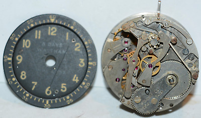 Waltham A - 13A USAF Military Aircraft Clock / Chronograph Parts 8 Day 22 Jewel