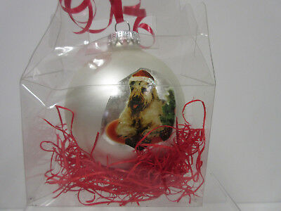 Soft Coated Wheaten Terrier Christmas Holiday Ball Ornament By Ruth Maystead