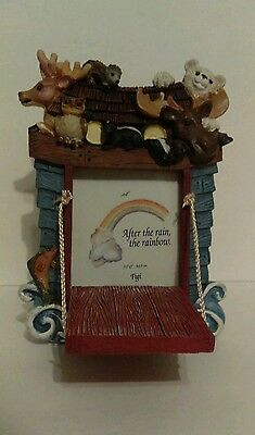 "NOAH'S ARK Photo Frame Ceramic holds 3.5x5"" photo Picture Frame"