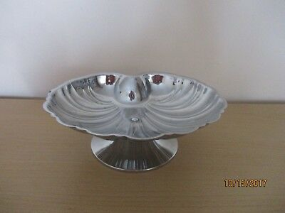 silver plated  dish/ sweet bowl. shell shapped