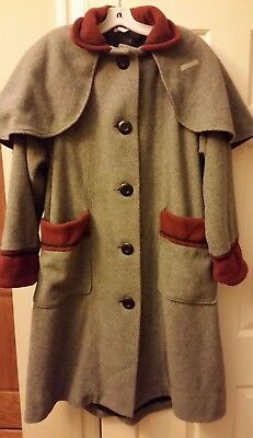 Inverness Coat. Victorian Style. Disney Frontier Village staff uniform